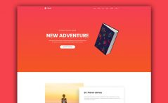 Free Book Landing Website Template
