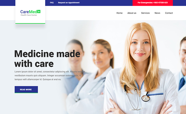 free HTML5 medical template