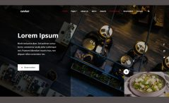 Free HTML5 Food Restaurant Website Template
