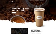 free coffee shop bootstrap template