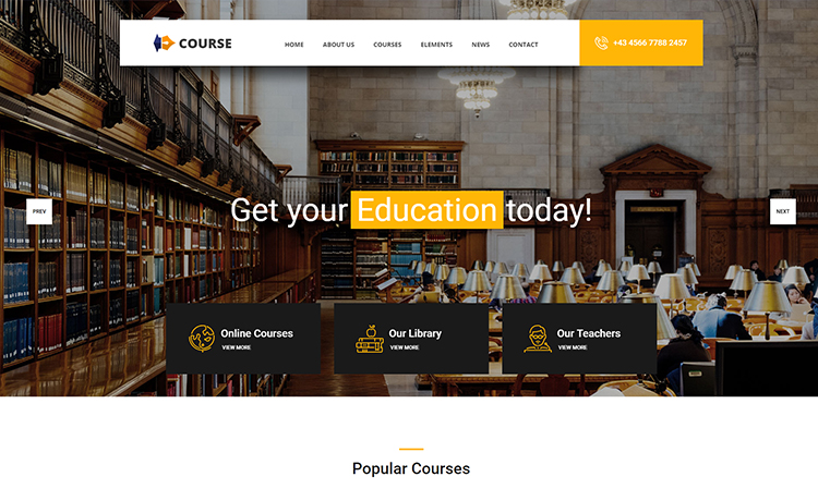 free education HTML template