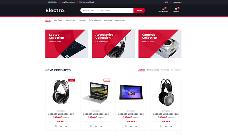 download free bootstrap ecommerce template for an easy online shop