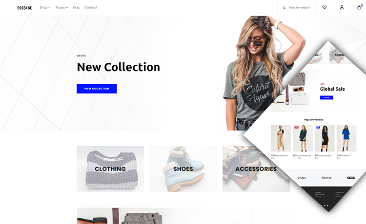 Shop And Cart Ready Free Ecommerce Bootstrap Template