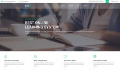 free HTML5 education template