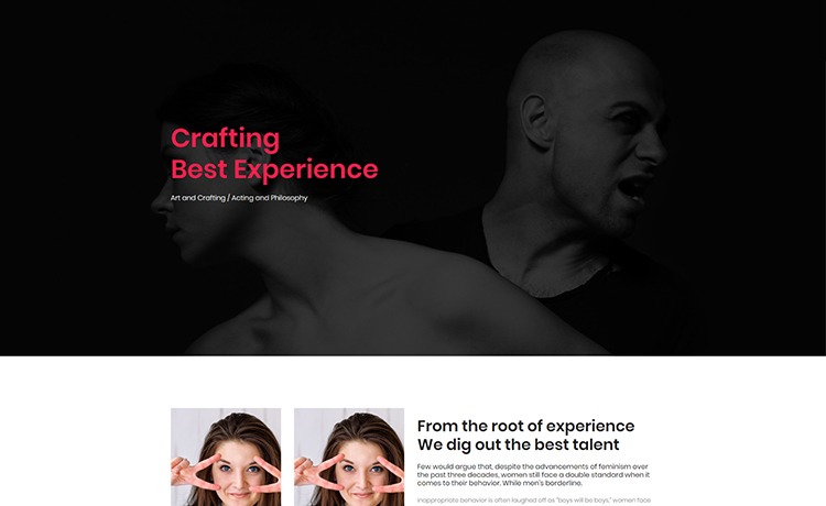 free creative Bootstrap template