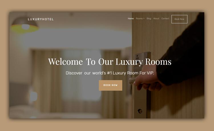 free hotel website template