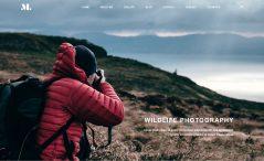 Free Photographer Portfolio Website Template