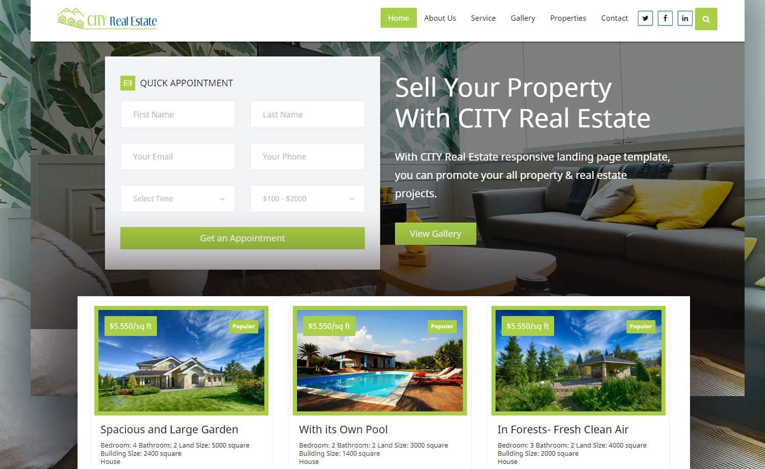 Multi Page Free Real Estate Marketplace Website Template With