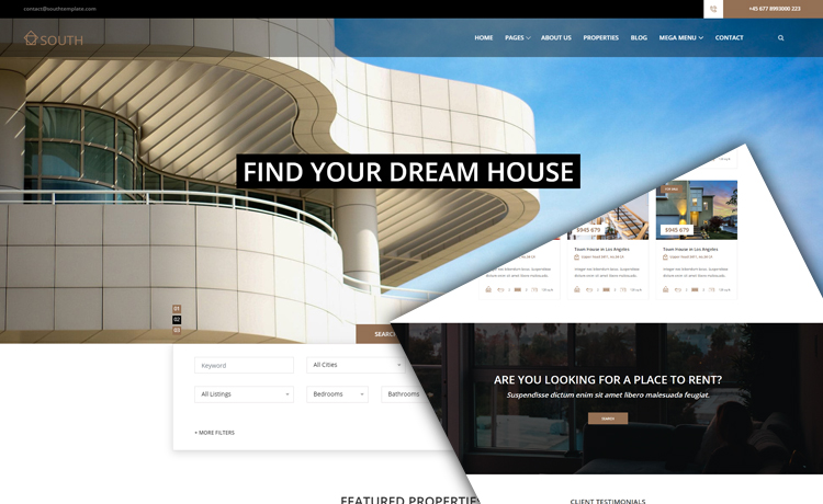 free real estate website template