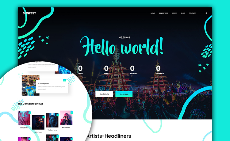 free Bootstrap event website template