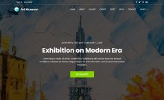 free museum website template