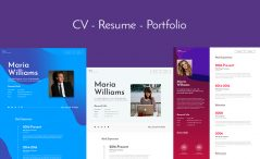 Download Free Premium Resume CV Bootstrap Website Template
