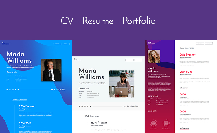 let u0026 39 s build your online profile with this free bootstrap resume template