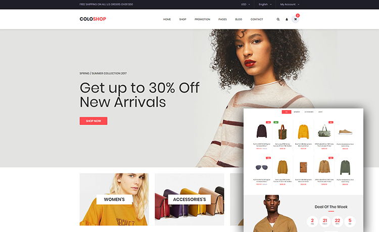 One Page Free Bootstrap ECommerce Website Template For Creating - Buy ecommerce website templates