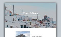 free responsive tourism website template