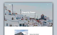 free responsive tourism website template