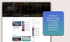 Free HTML5 Megazine Template