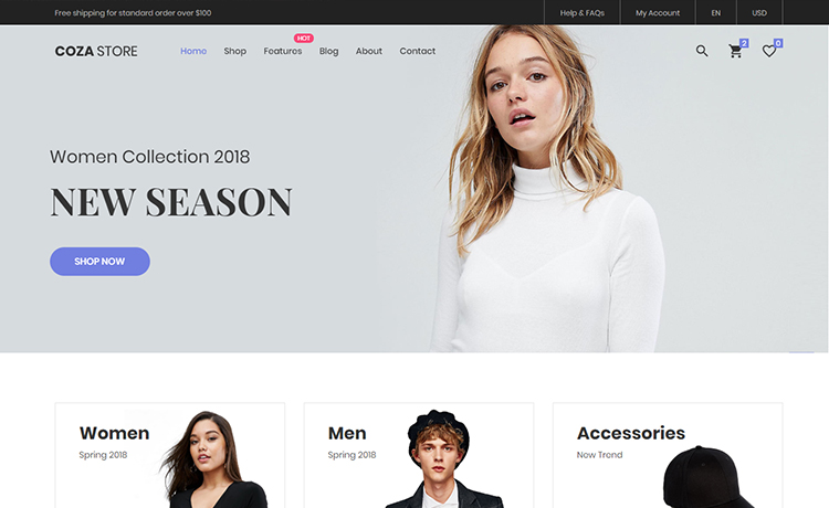 Free Html5 Ecommerce Website Template For An Easy Shop Creation