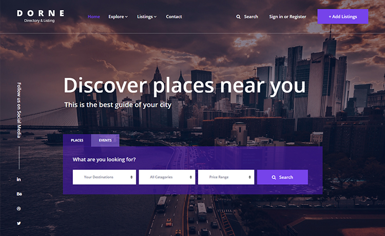 Free Bootstrap Travel Directory Template