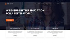Free HTML5 Responsive Education Template