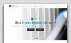 free responsive hosting website template