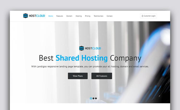 free responsive hosting website template