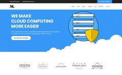 free HTML5 web hosting template