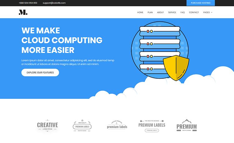 free HTML5 web hosting template