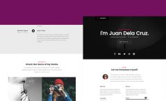 personal responsive vCard template