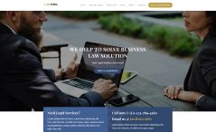 free HTML5 lawyer website template