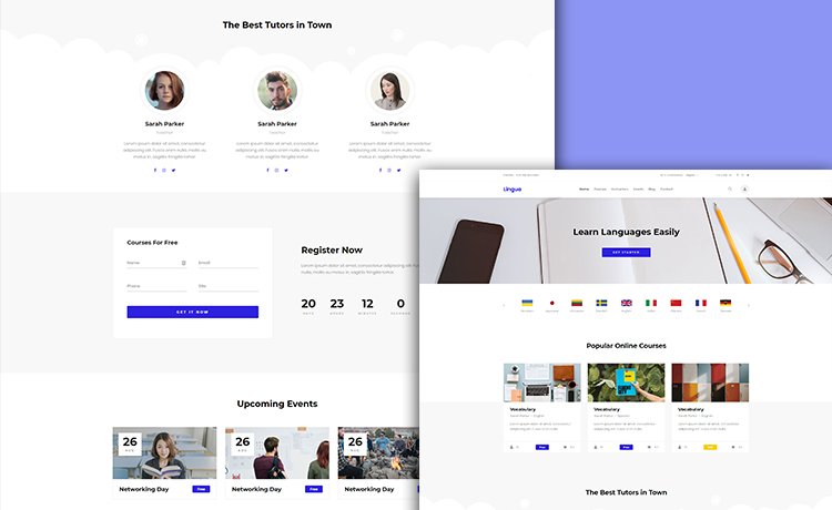 Free Responsive Education Template