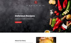 free responsive restaurant template