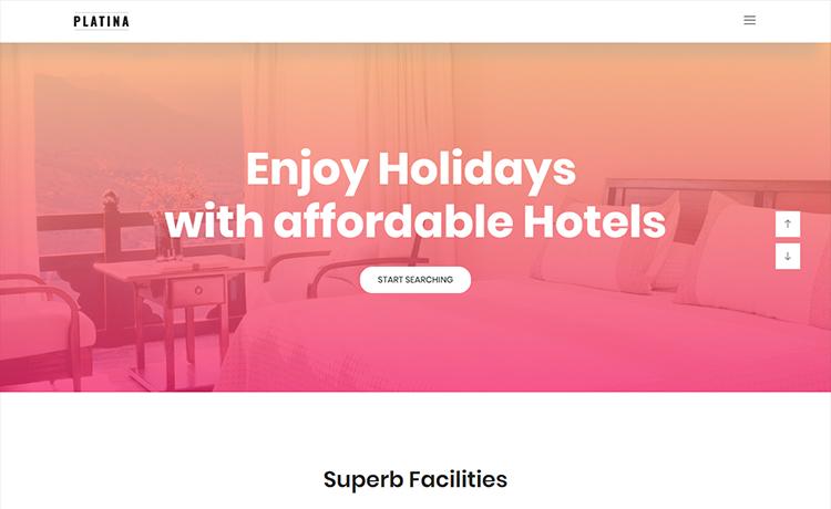 responsive travel agency website template