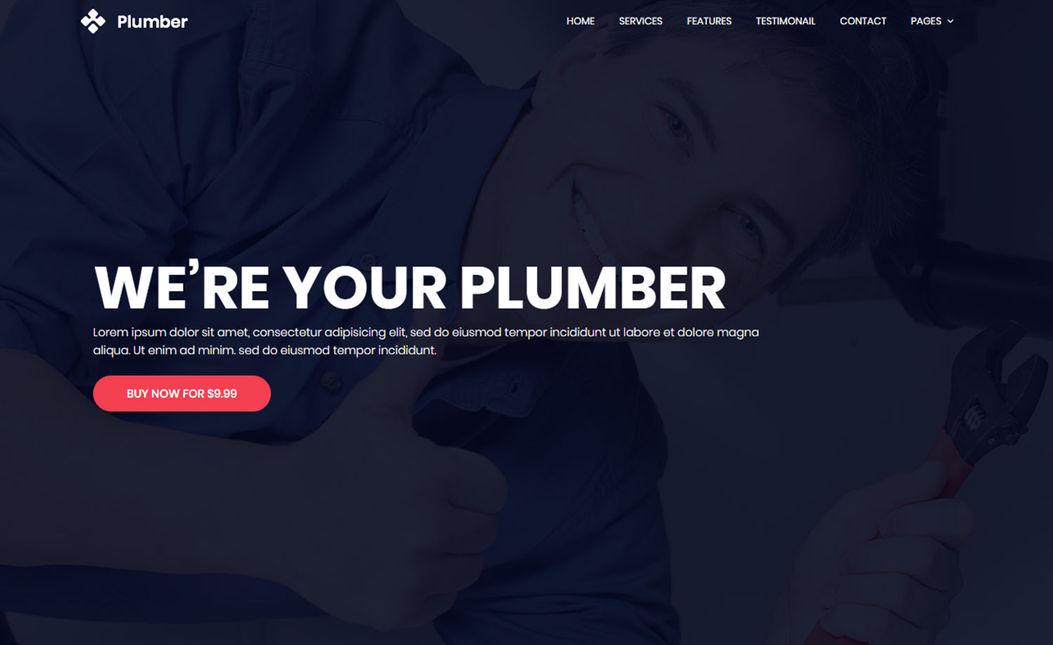 Free HTML5 Plumbing Website Template