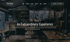 free Bootstrap HTML restaurant website template