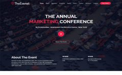 free bootstrap events conferences webinars website template