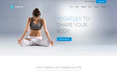free bootstrap HTML 5 yoga website template