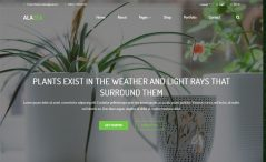 Free Bootstrap 4 HTML5 plant nursery website template