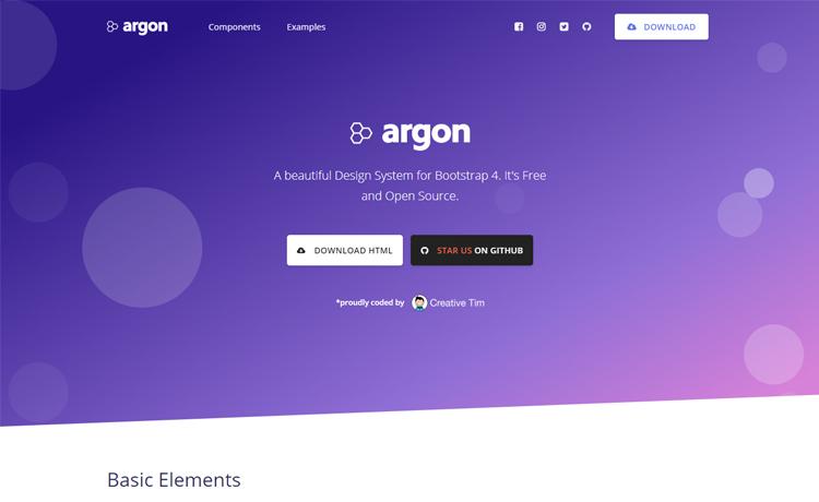 Free bootstrap 4 ui kit design system website template argon is a free design system for bootstrap 4 maxwellsz