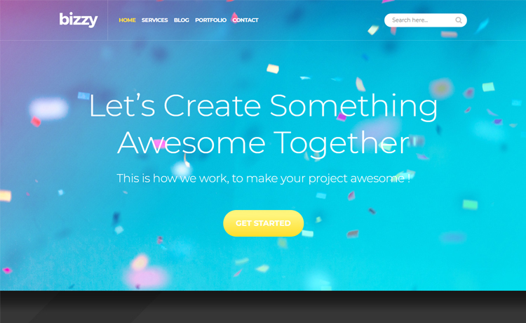 Bizzy-Free Bootstrap 4 HTML5 web design agency website template