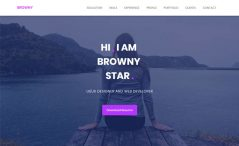 Browny is a free one-page responsive professional portfolio HTML5 website template