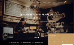 free bootstrap HTML 5 coffee based business website template