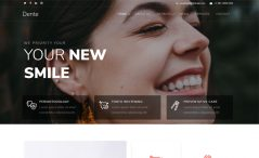 Free Bootstrap dentist portfolio website template