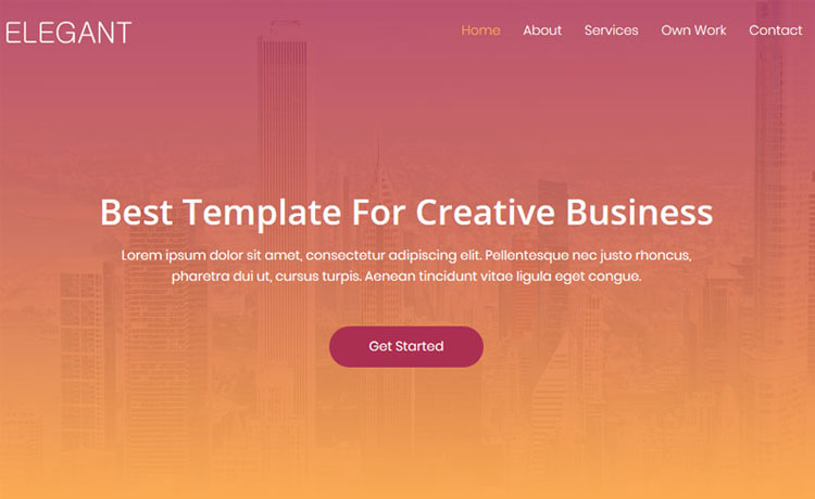 Elegant-Free Bootstrap 4 HTML5 creative business agency