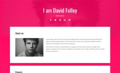 Energy is a free HTML 5 portfolio website template