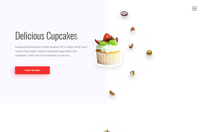 free Bootstrap food bar cafe website template
