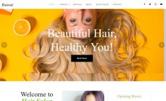 free HTML 5 Bootstrap hair salon website template