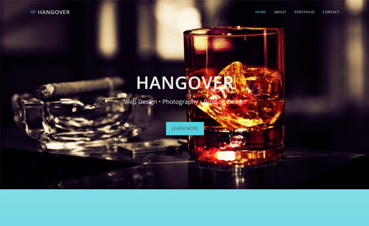 free Bootstrap HTML5 one-page personal portfolio website template