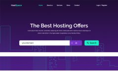 free bootstrap web hosting agency website template