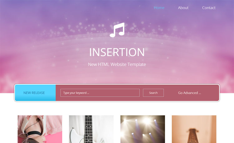 free HTML5 bootstrap 4 musical portfolio website template